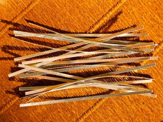 lastrine in Argento puro 11 cm x 2,5 mm per argento colloidale